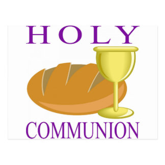 Holy Communication Postcard