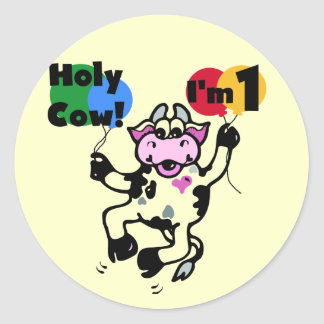 Holy Cow 1st Birthday Tshirts and Gifts Stickers