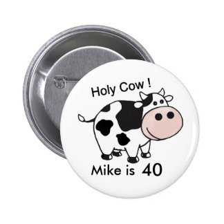 holy cow birthday button