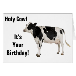 Holy Cow! Birthday Card! Greeting Card