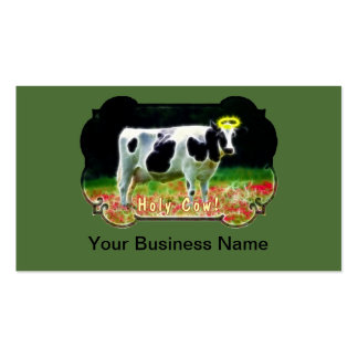 Holy Cow Halo Holstein Cattle Humor Business Card Templates