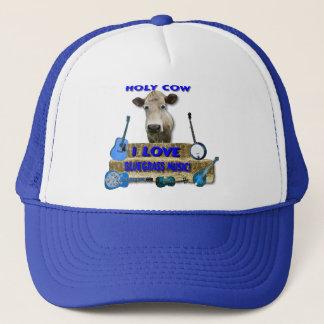 HOLY COW I LOVE BLUEGRASS MUSIC TRUCKER HAT
