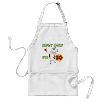 Holy Cow I m 30 Tshirts and Gifts Apron