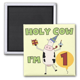 Holy Cow I'm 1 Tshirts and Gifts Refrigerator Magnets