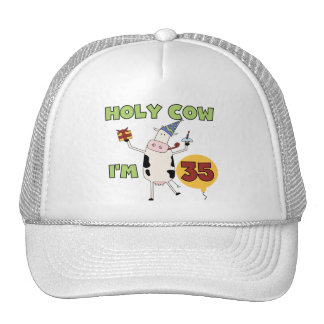 Holy Cow I'm 35 Birthday Tshirts and Gifts Mesh Hats