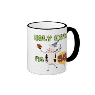 Holy Cow I'm 55 Birthday Tshirts and Gifts Mugs
