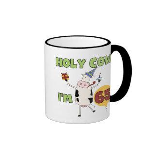 Holy Cow I'm 65 Birthday T-shirts and Gifts Coffee Mug