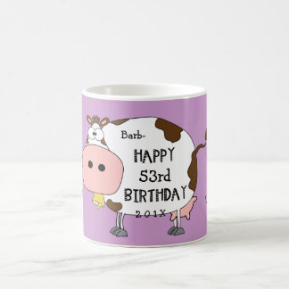 """Holy Cow!-This is your """"any age here"""" birthday Coffee Mug"""