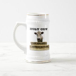 HOLY COW-You add YEARS-MUG Beer Stein