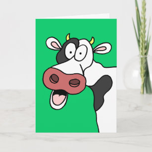 Holy Cow Youre 80 Funny 80th Birthday Card