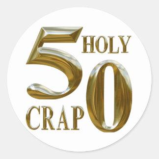 Holy Crap Classic Round Sticker