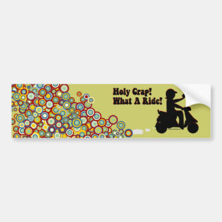 Holy Crap, What A Ride Bumper Sticker