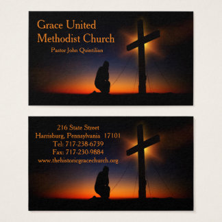 Holy Cross at Sunset (Personalise) Business Card