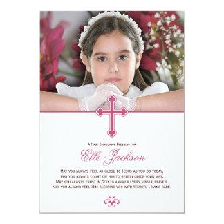 Holy Cross First Communion Photo Keepsake Card