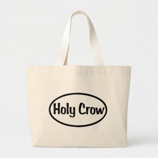 Holy Crow Oval Large Tote Bag