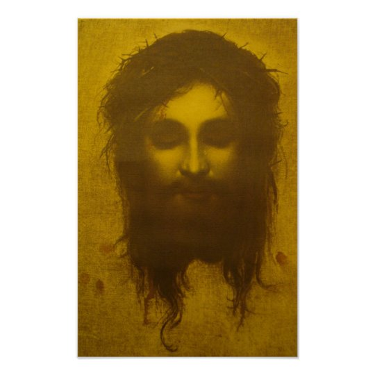 Holy Face Of Jesus Christ Veronica S Veil Poster