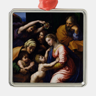 Holy Family , 1518 Silver-Colored Square Decoration