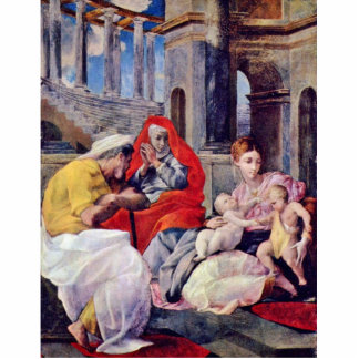 Holy Family And St. Elizabeth By Tibaldi Pellegrin Photo Cut Out
