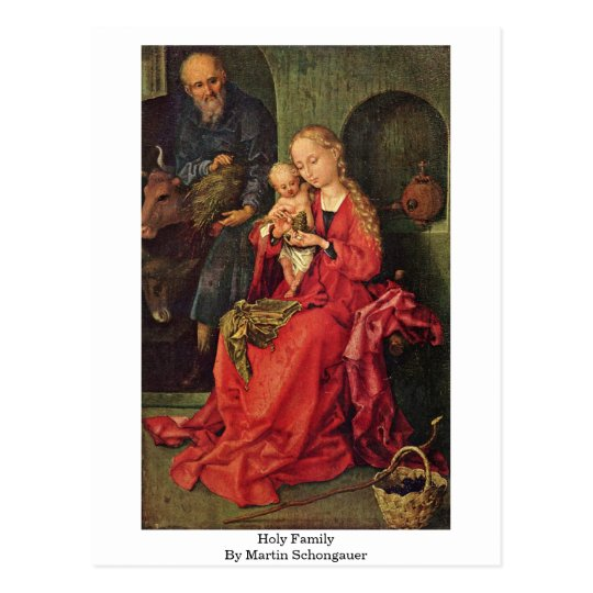 Holy Family By Martin Schongauer Postcard