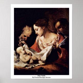 Holy Family By Petrini Giuseppe Antonio Poster
