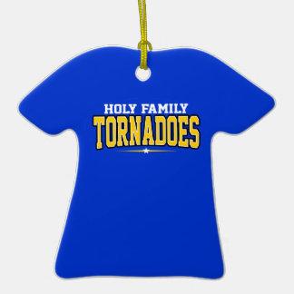 Holy Family Catholic High School Tornadoes Christmas Tree Ornament