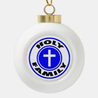Holy Family Ceramic Ball Decoration