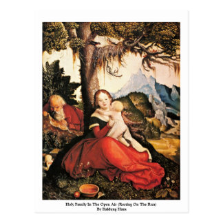 Holy Family In The Open Air Post Card