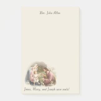 Holy Family Jesus Mary St. Joseph Customize Post-it Notes
