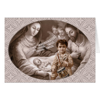 Holy family Little drummer boy CC0788 Christmas Card