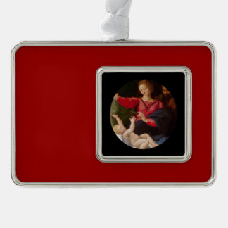 Holy Family Madonna of Loreto Silver Plated Framed Ornament