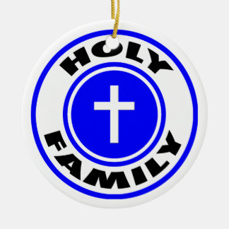 Holy Family Round Ceramic Decoration