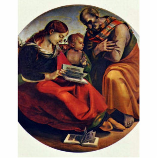 Holy Family Tondo By Signorelli Luca (Best Quality Acrylic Cut Out