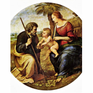 Holy Family Under A Palm Tree Tondo By Raffael Cut Outs