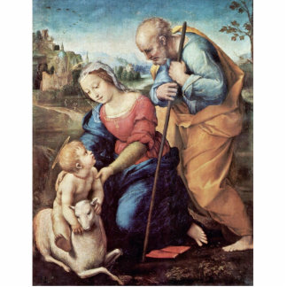 Holy Family With A Lamb By Raffael (Best Quality) Cut Out