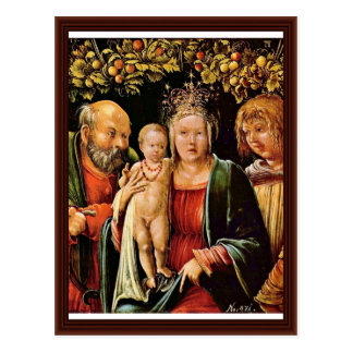 Holy Family With An Angel By Altdorfer, Albrecht Postcard