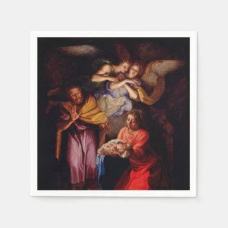 Holy Family with Angels by Coypel Disposable Serviette