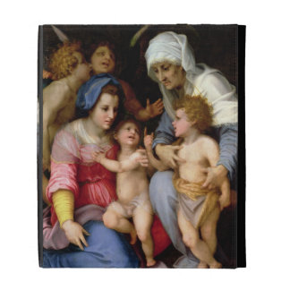 Holy Family with Angels, c.1515-16 (oil on panel) iPad Folio Cover