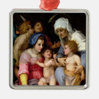 Holy Family with Angels c 1515-16 oil on panel Christmas Ornament