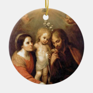 Holy Family with Cherubs by Gutierrez Christmas Tree Ornament