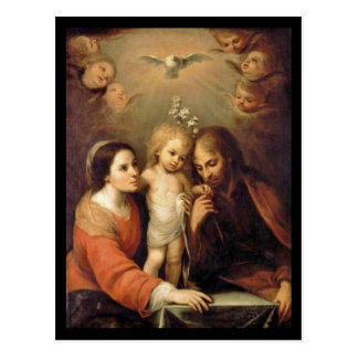 Holy Family with Cherubs by Gutierrez Postcard