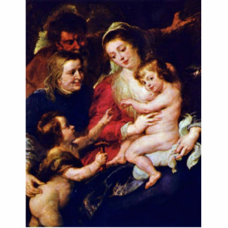 Holy Family With Elisabeth And John By Rubens Cut Outs