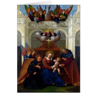 Holy Family with Saint Nicholas of Tolentino Card