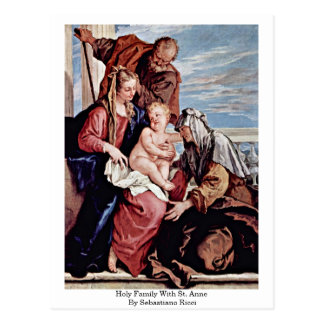 Holy Family With St. Anne By Sebastiano Ricci Postcard