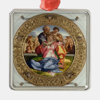 Holy Family with St. John (Doni Tondo), 1504-05 (o Silver-Colored Square Decoration