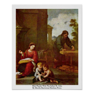 Holy Family With The Infant St. John Poster