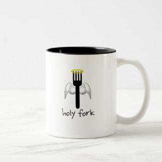 Holy Fork Two-Tone Mug
