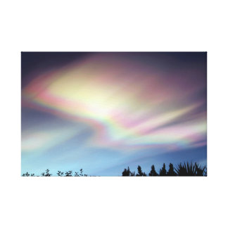 """Holy Glory"" - Polar Stratospheric Clouds Canvas Print"