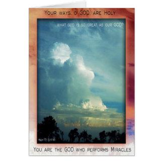 Holy God card
