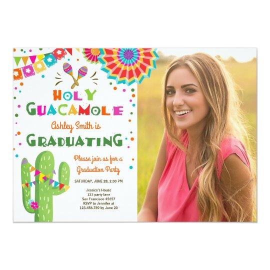 Holy Guacamole Fiesta Graduation Invitation party