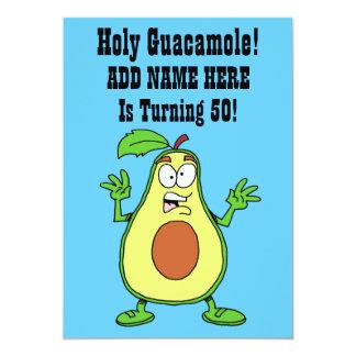 Holy Guacamole Someone Is Turning 50 Avocado Card